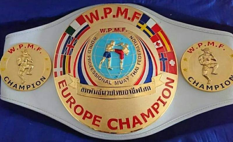 ceinture de champion d'europe boxe thai